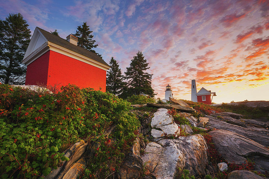 Sunrise at Pemaquid Light by Robert Clifford