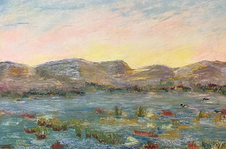 Sunrise at the pond by Norma Duch
