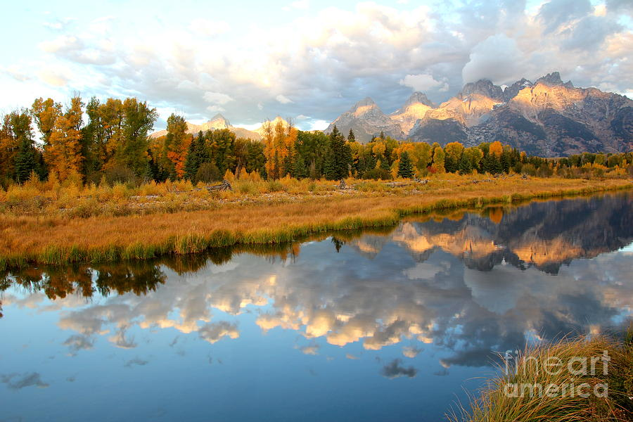 Sunrise on the Grand Tetons by Cynthia Mask