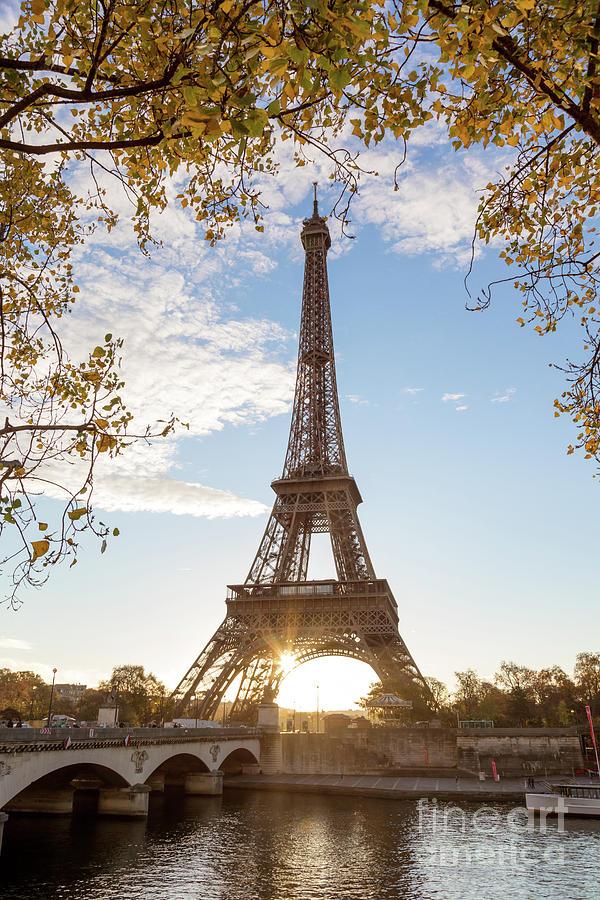 Sunrise At The Tour Eiffel In Autumn Paris France