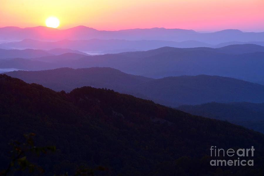 Sunrise At Thunderhill Blue Ridge Mountains Nc