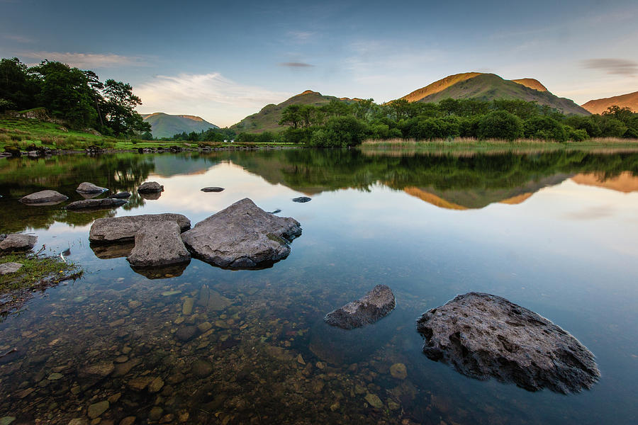 Lake District Photograph - Sunrise at Ullswater, Lake District, North West England by Anthony Lawlor