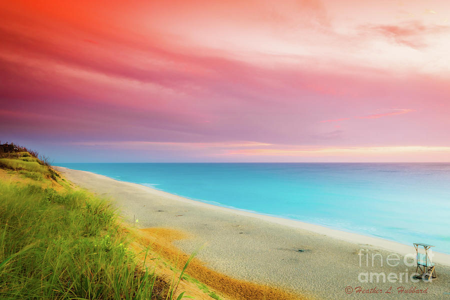 Sunrise at Wellfleet Photograph by Heather Hubbard