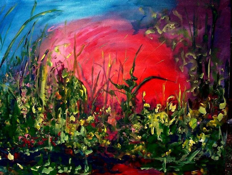Painting Painting - Sunrise Blooming by Ellen Seymour