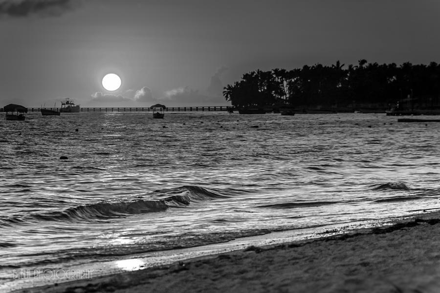 B&w Photograph - Sunrise  by Bulik Elena