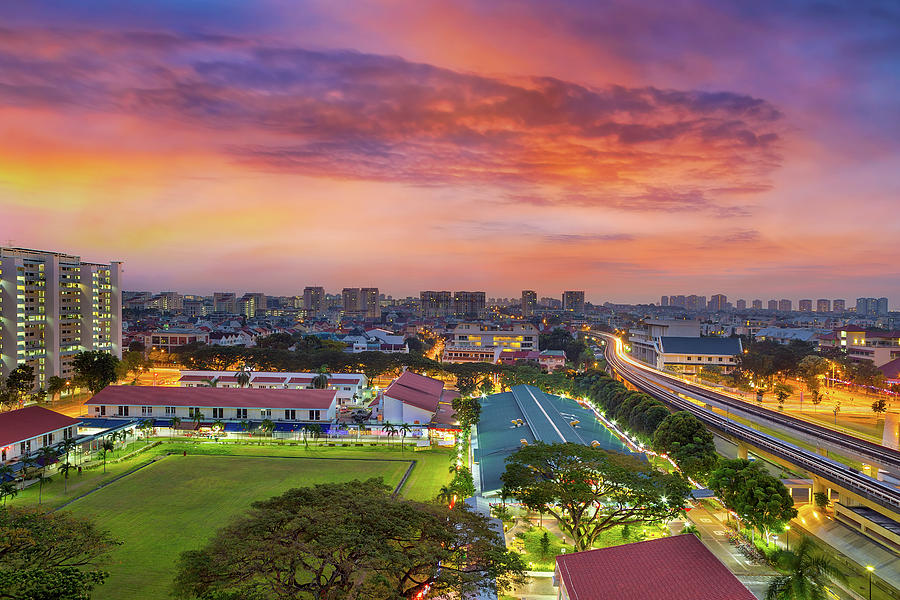 Eunos Photograph - Sunrise By Mrt Station In Eunos Singapore by David Gn