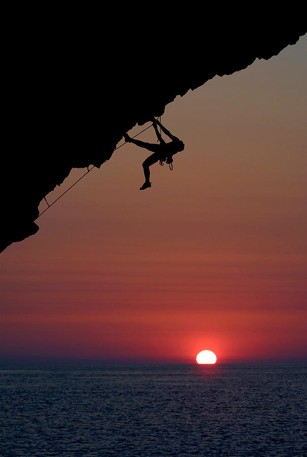 Climbing Photograph - Sunrise Climber by Neil Buchan-Grant