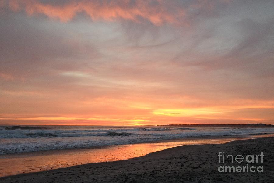 Nantasket Beach Photograph - Sunrise Clouds Over The Atlantic November 5 2016 by Janice Reed Messier