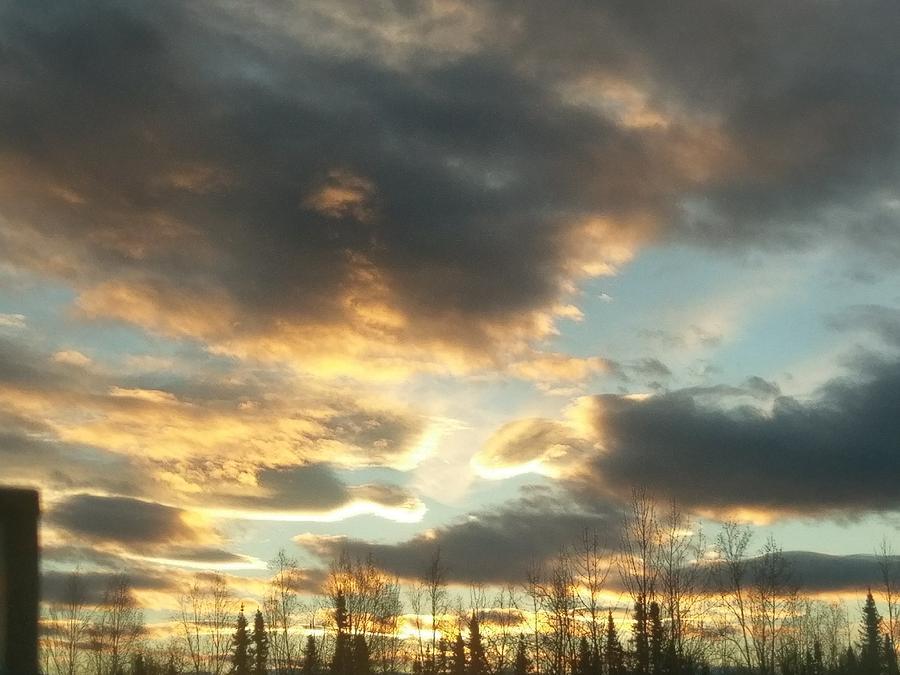 Alaska Photograph - Sunrise Cloudscape by Joshua Stoker