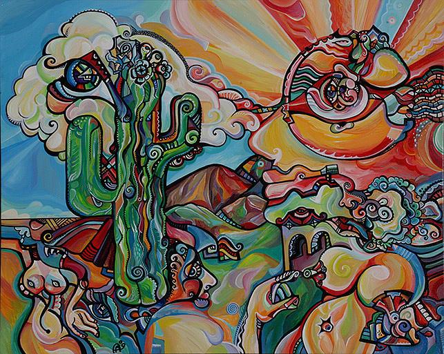 Arizona Painting - Sunrise Dance by Alex Arshansky