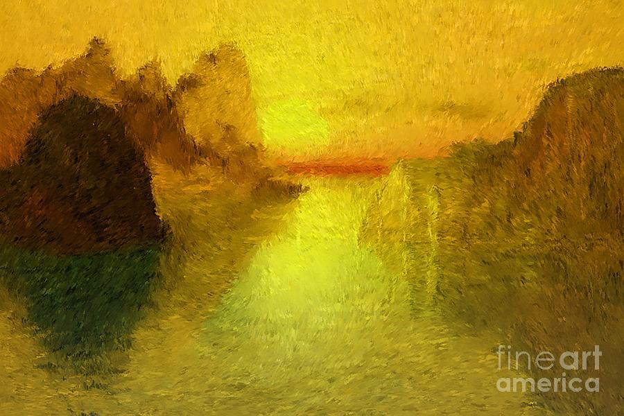 Nature Digital Art - Sunrise by David Lane