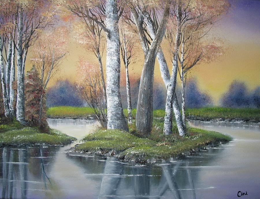 Season Painting - Sunrise Dream by Lisa Cini