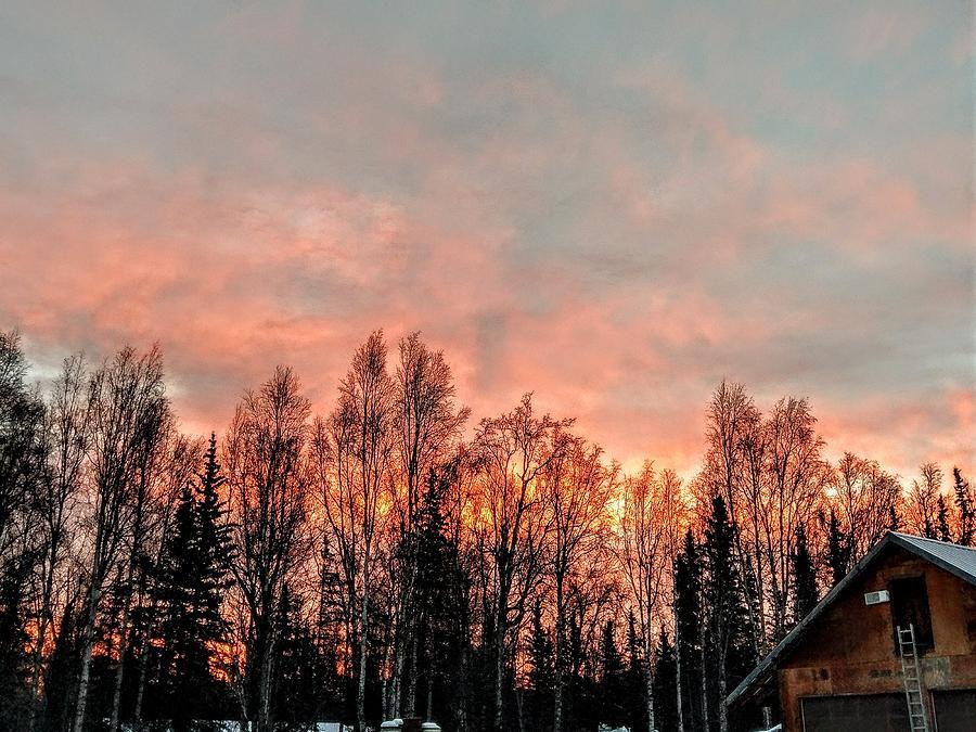 Alaska Photograph - Sunrise Fire  by Joshua Stoker
