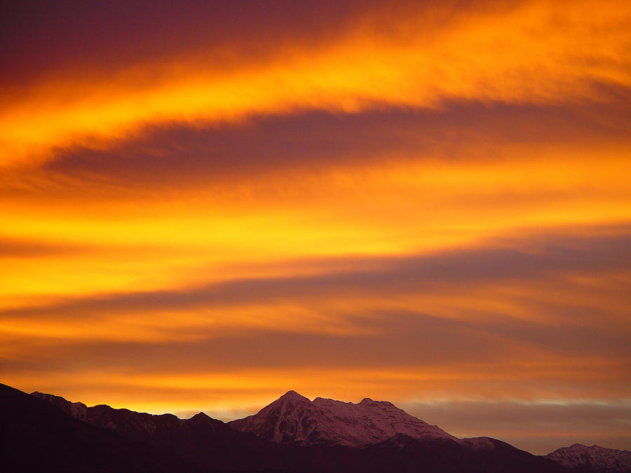 Sunrise Photograph - Sunrise Flames Over Timponogos by Derek Nielsen
