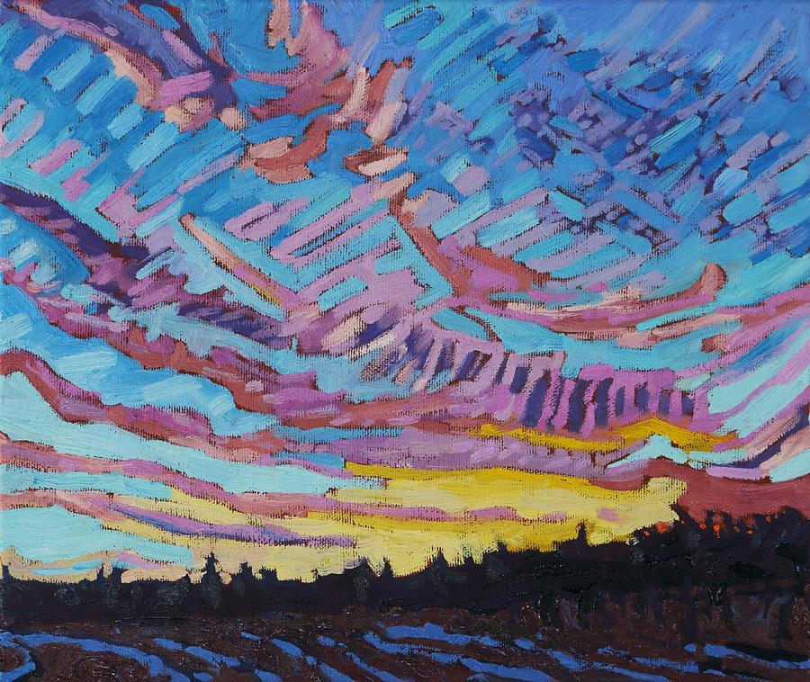 1906 Painting - Sunrise Freezing Rain Deformation Zone by Phil Chadwick