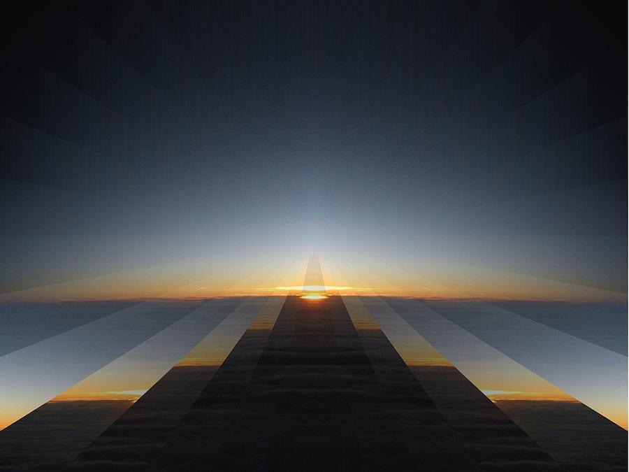 Sunrise Digital Art - Sunrise From 30k 3 by Tim Allen