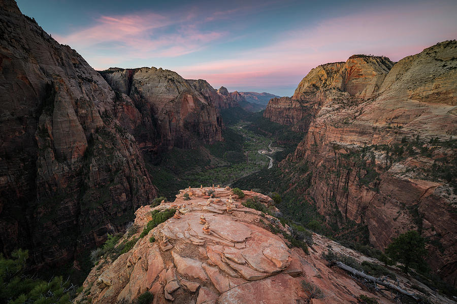Zion National Park Photograph - Sunrise from Angels Landing by James Udall
