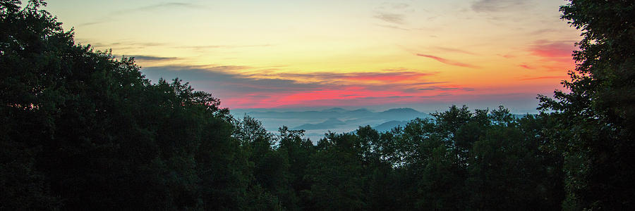 Sunrise Photograph - Sunrise From Maggie Valley August 16 2015 by D K Wall