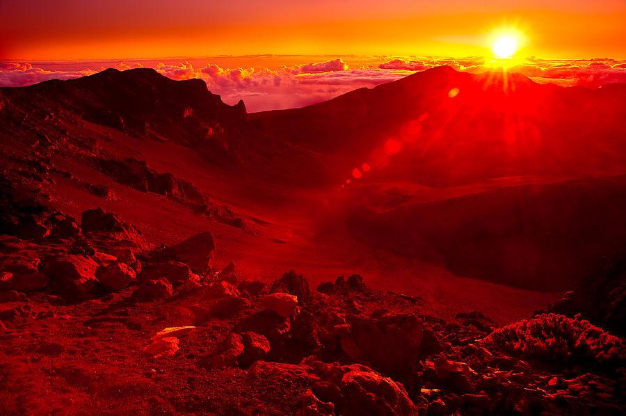 Sunrise Photograph - Sunrise Haleakala by Harry Spitz