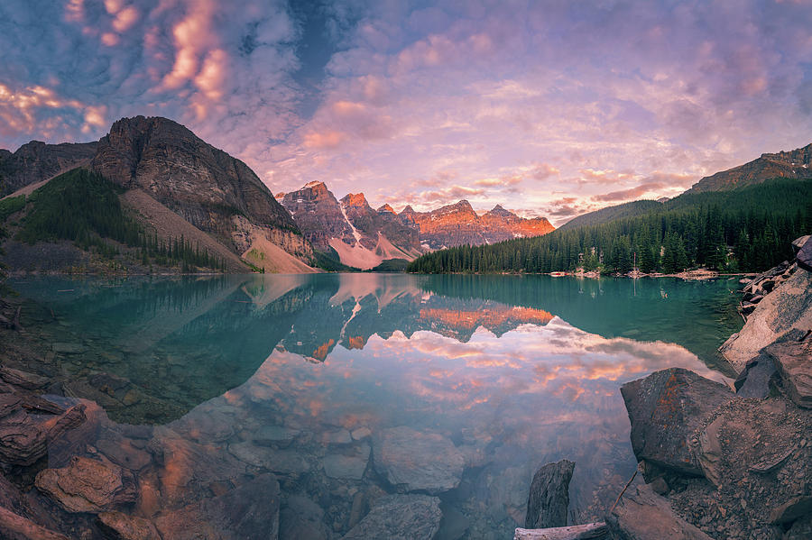 Alberta Photograph - Sunrise Hour At Banff by William Freebilly photography