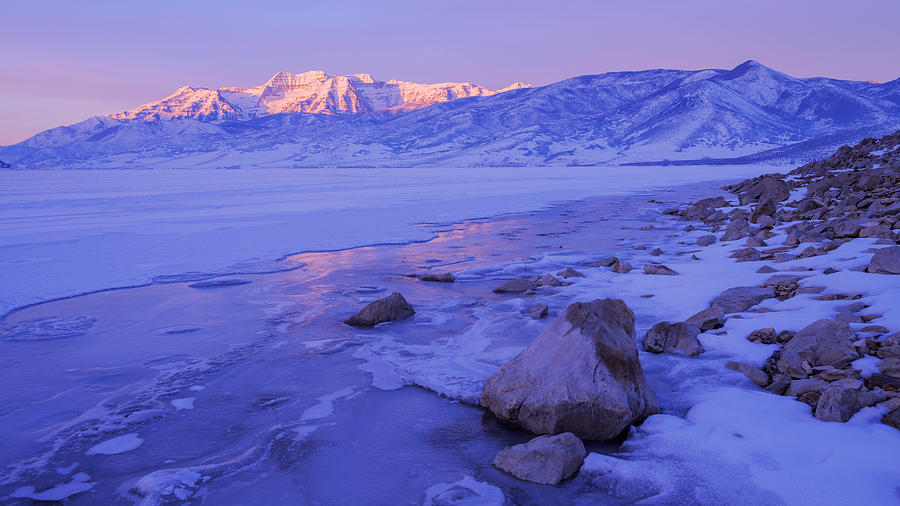 Lake Photograph - Sunrise Ice Reflection by Chad Dutson