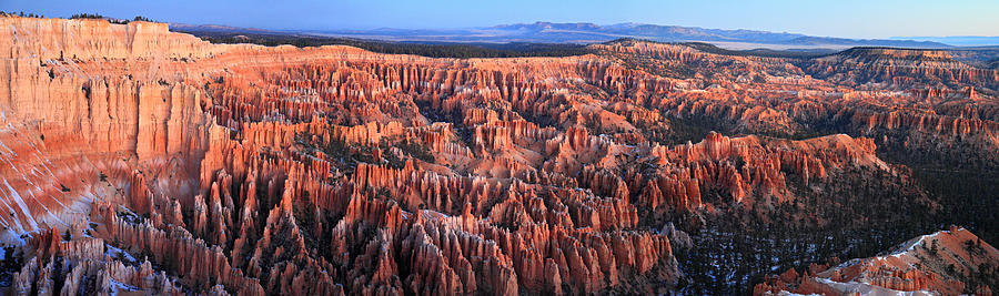 Sunrise Photograph - Sunrise In Bryce Canyon Panorama by Pierre Leclerc Photography