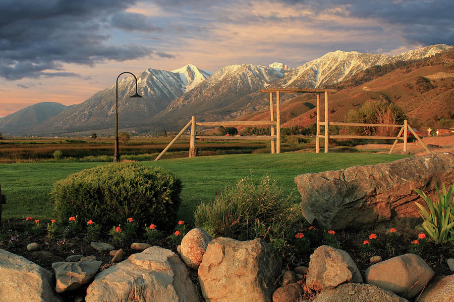Landscape Photograph - Sunrise In Carson Valley by James Eddy