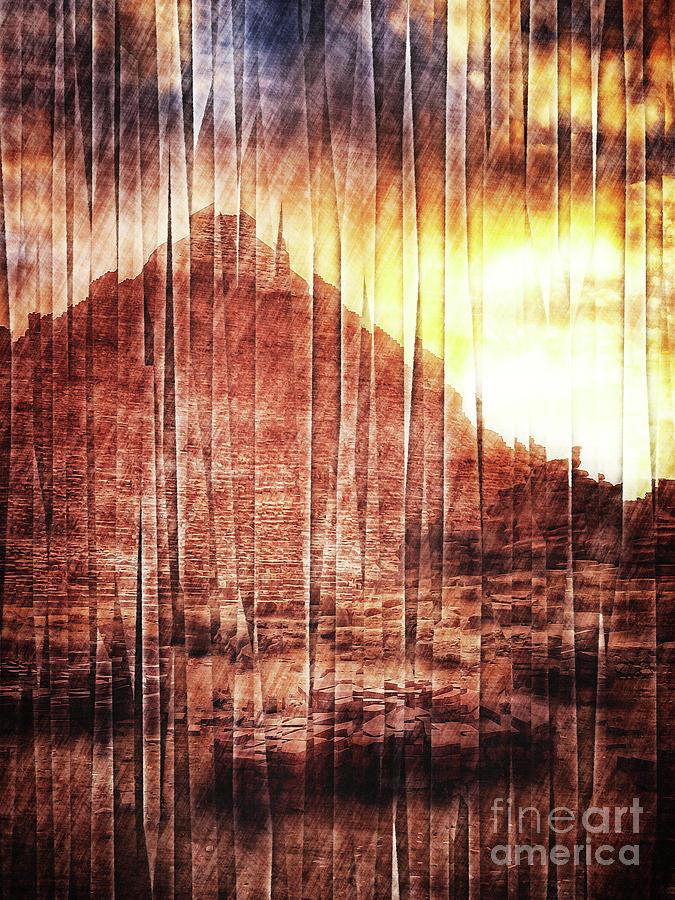 East Digital Art - Sunrise In Egypt by Phil Perkins
