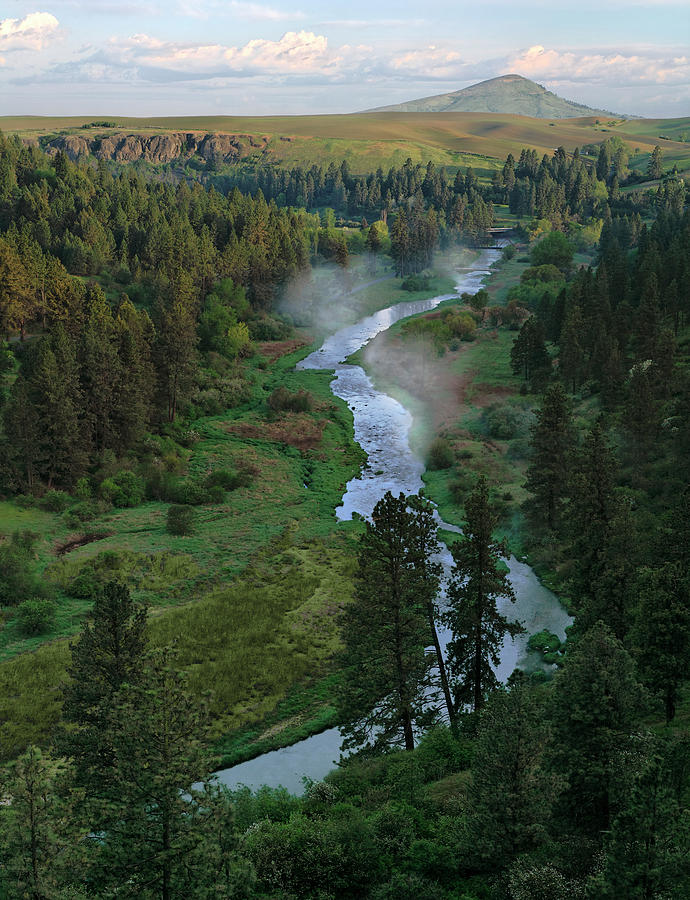 Palouse Photograph - Sunrise In Elberton Canyon - 2 by Jerry McCollum