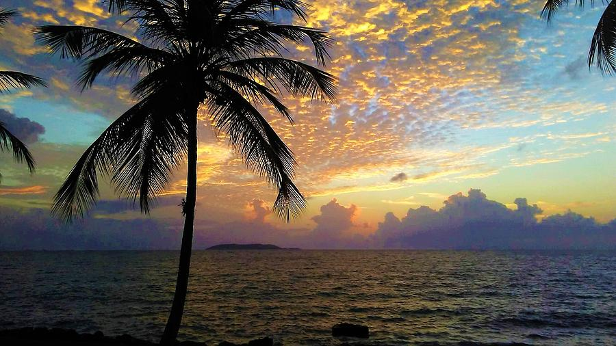 Puerto Rico Photograph - Sunrise in Fajardo, Puerto Rico by Ron Bartels