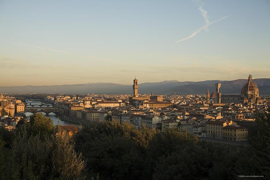 Landscape Photograph - Sunrise In Florence by Luigi Barbano BARBANO LLC