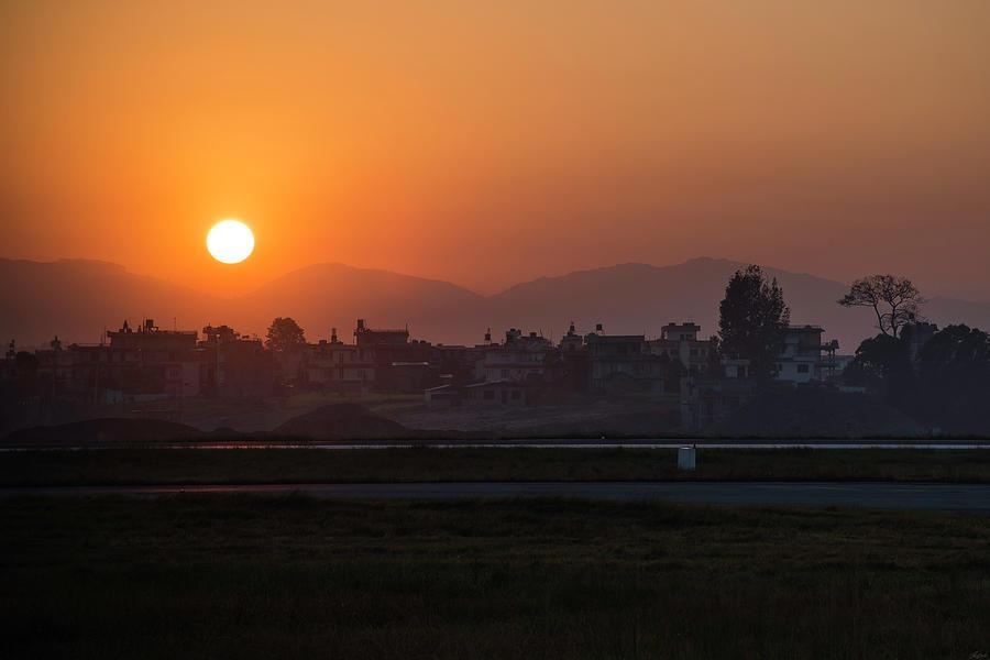 Sunrise In Kathmandu by Owen Weber