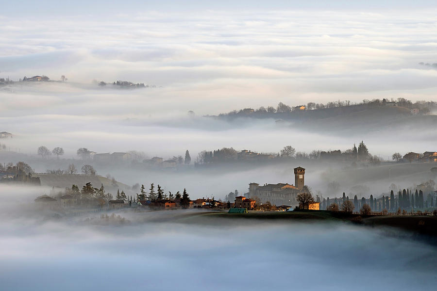 Sunrise Photograph - Sunrise In Levizzano by Andrea Gabrieli
