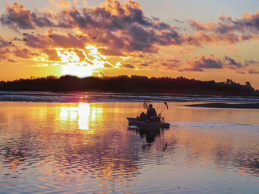 Murrells Inlet Photograph - Sunrise In Murrells Inlet, Sc by Terry Shoemaker