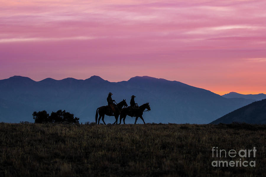 Sunrise in the Lost River Range Wild West Photography Art by Kay by Kaylyn Franks