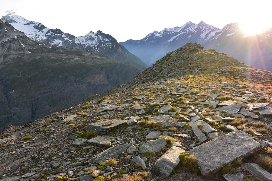 Zermatt Photograph - Sunrise In The Swiss Alps by Two Small Potatoes