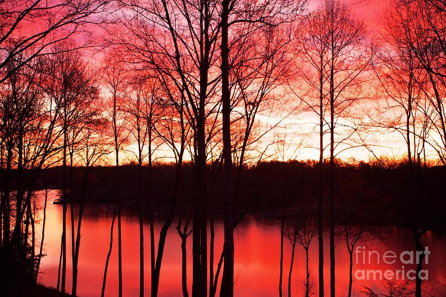 Sunrise Photograph - Sunrise Lake Norman North Carolina by Kim Fearheiley