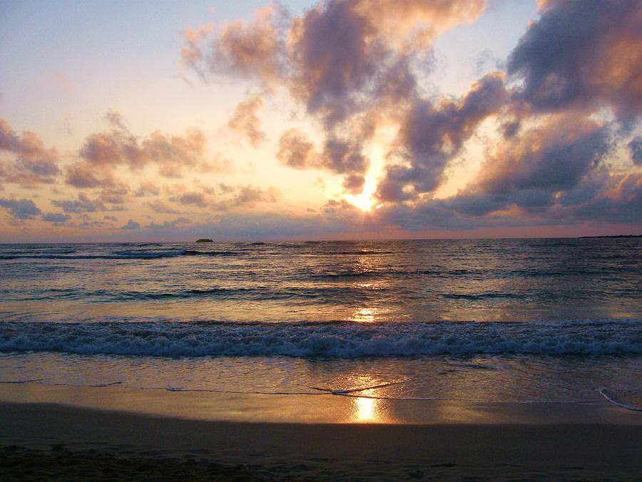 Hawaii Photograph - Sunrise North Shore Oahu 3 by Nancy Ippolito