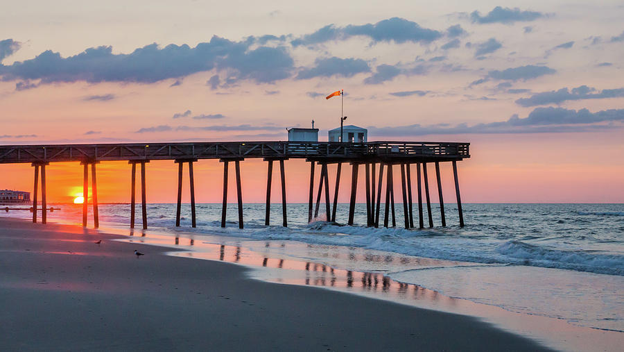 Sunrise Ocean City Fishing Pier by Photographic Arts And Design Studio