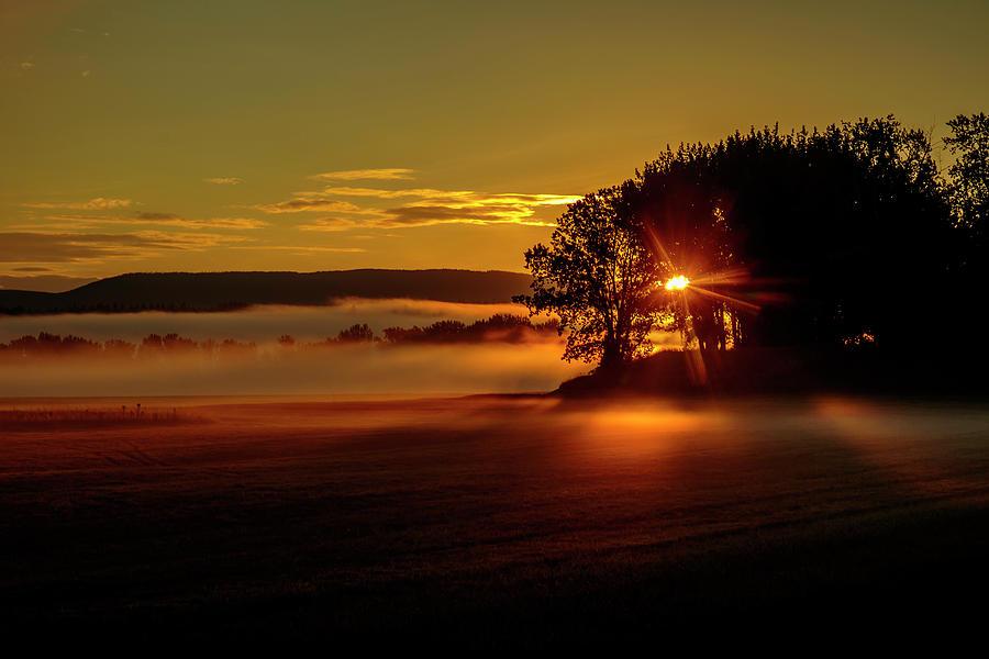 Sunrise on a Foggy Morn by Albert Seger