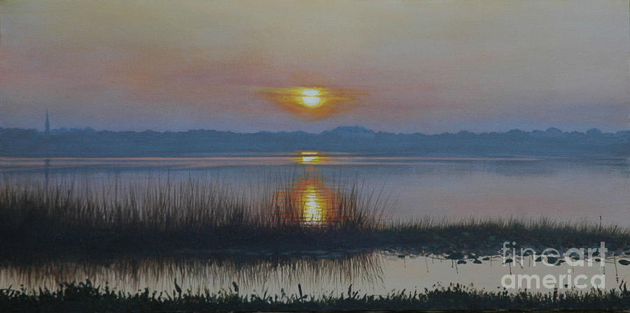 Sunrise Painting - Sunrise On Lake Hollingsworth by Michael Nowak