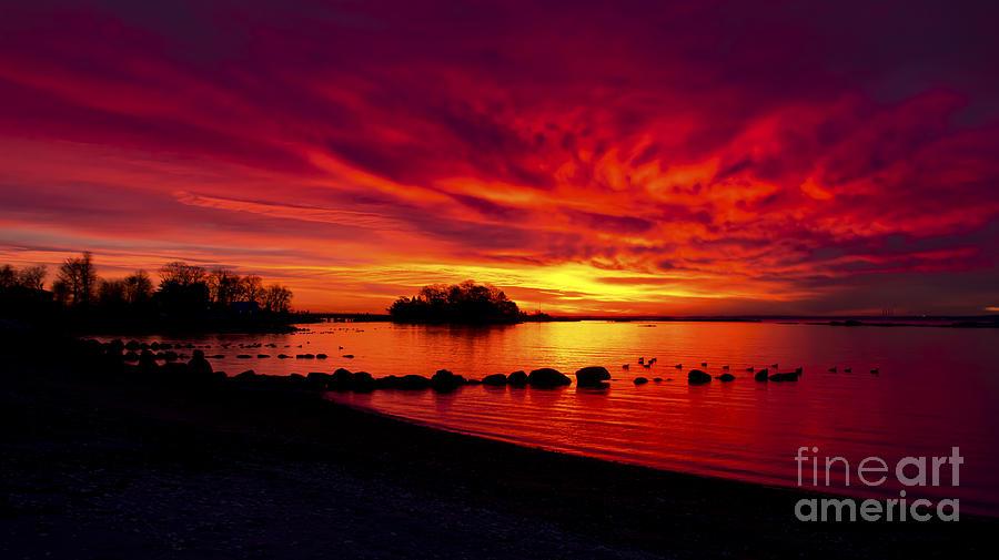 Sunrise on Long Island Sound by New England Photography
