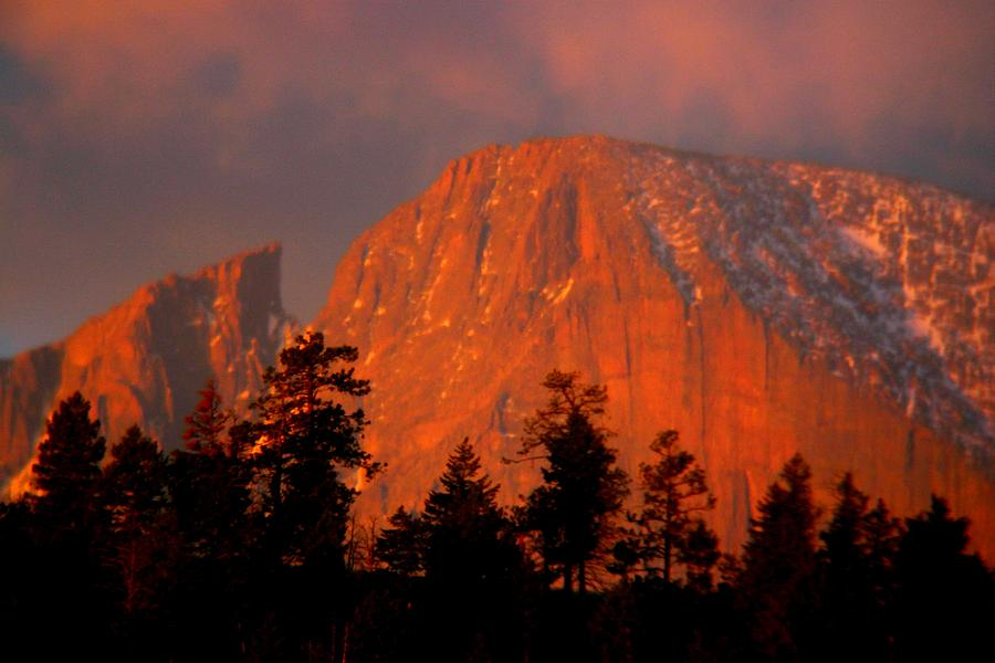 Mountain Photograph - Sunrise on Longs Peak by Perspective Imagery