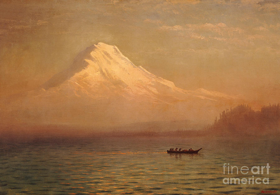 Albert Painting - Sunrise On Mount Tacoma  by Albert Bierstadt