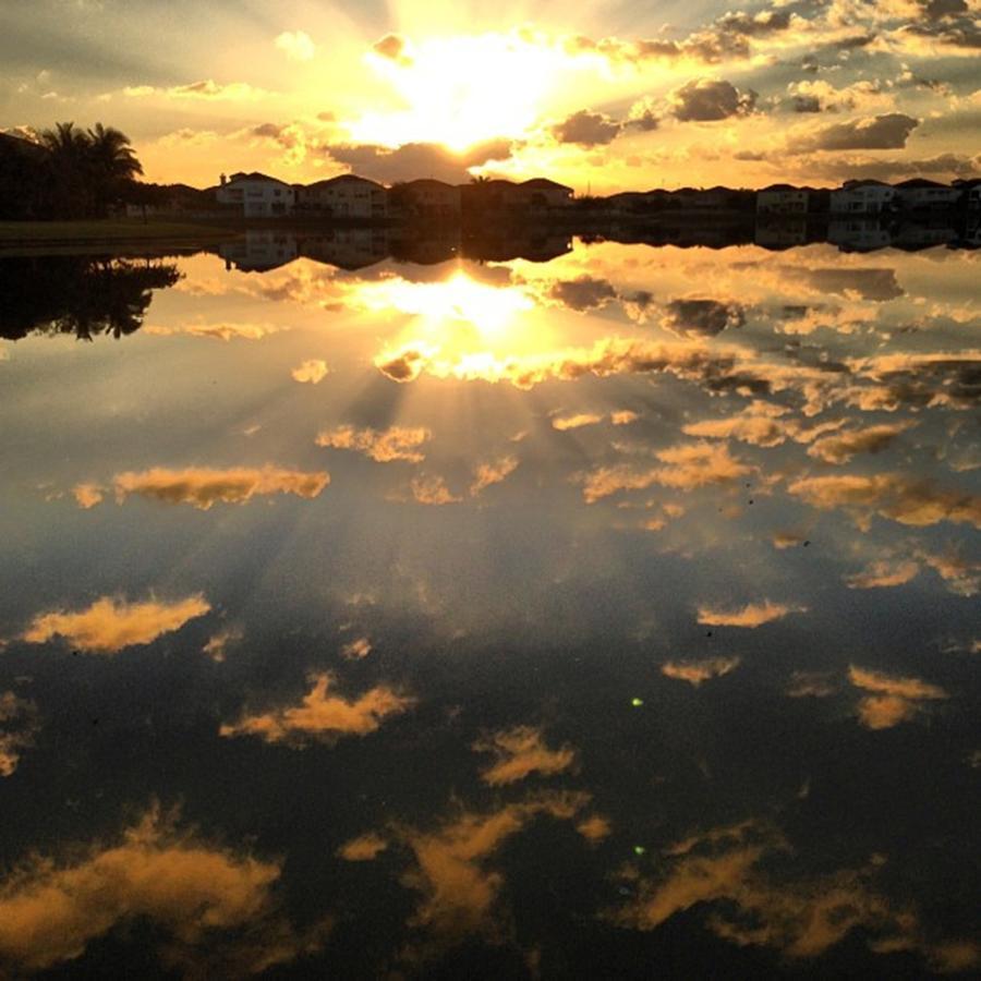 Sunrise On My Backyard Photograph by Juan Silva
