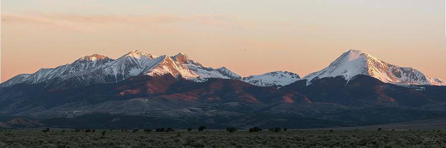 Sunrise Photograph - Sunrise On The Blanca Group by Aaron Spong