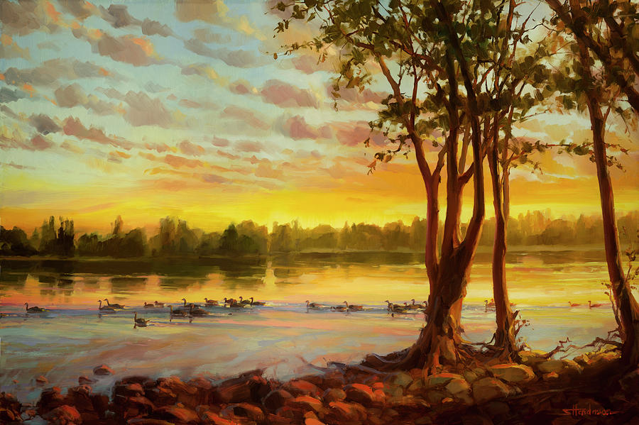 Sunrise on the Columbia by Steve Henderson