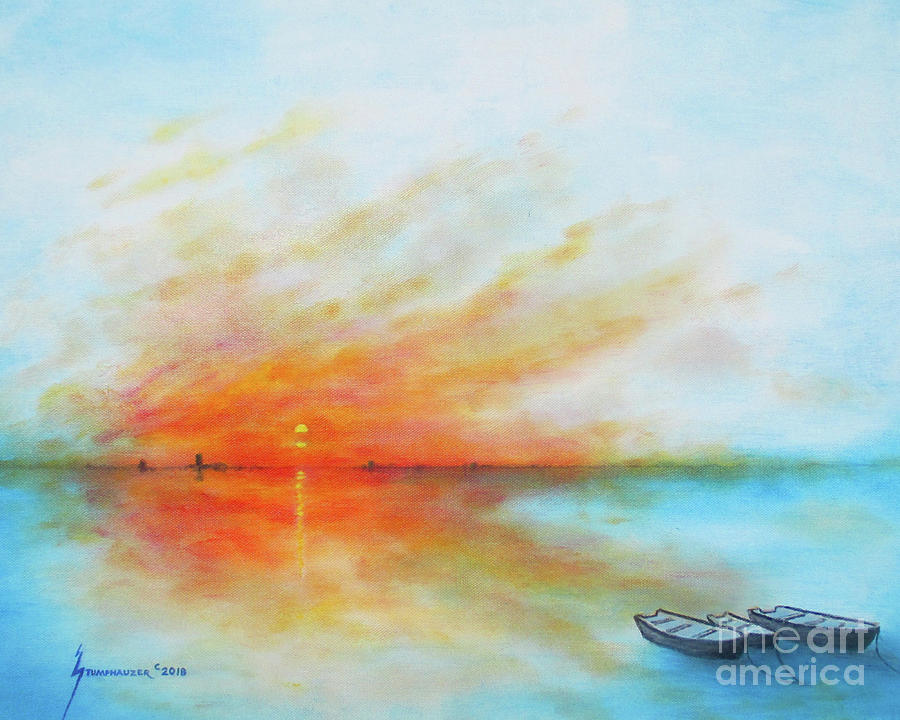 Sunrise On The Lake by Jerome Stumphauzer