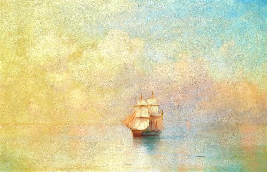 Sunrise On The Sea Painting