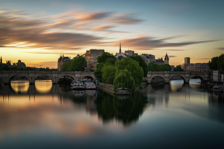 Sunrise on the Seine by James Udall